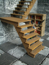 Wooden staircase (constr. kit)