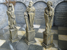 Pedestals for statues (6 pieces, 3 different pieces)