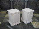 2 Pedestals for statues (square)