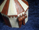 How to open and to paint a knights tent